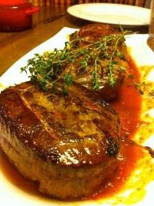 Rolled stuffed flank steak