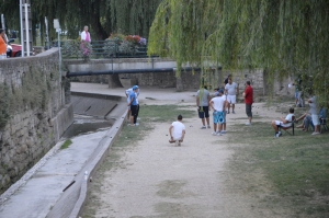 Local men playing Petanque
