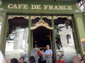 Cafe at Cafe de France - yummy!